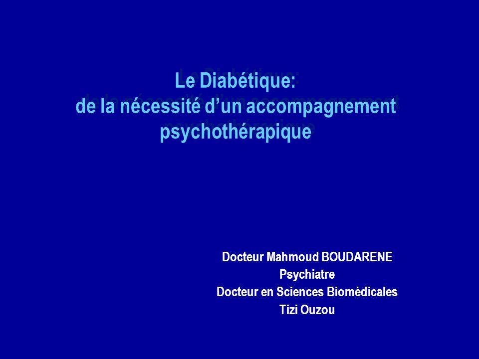 Le Diabétique: de la nécessité d'un accompagnement psychothérapique