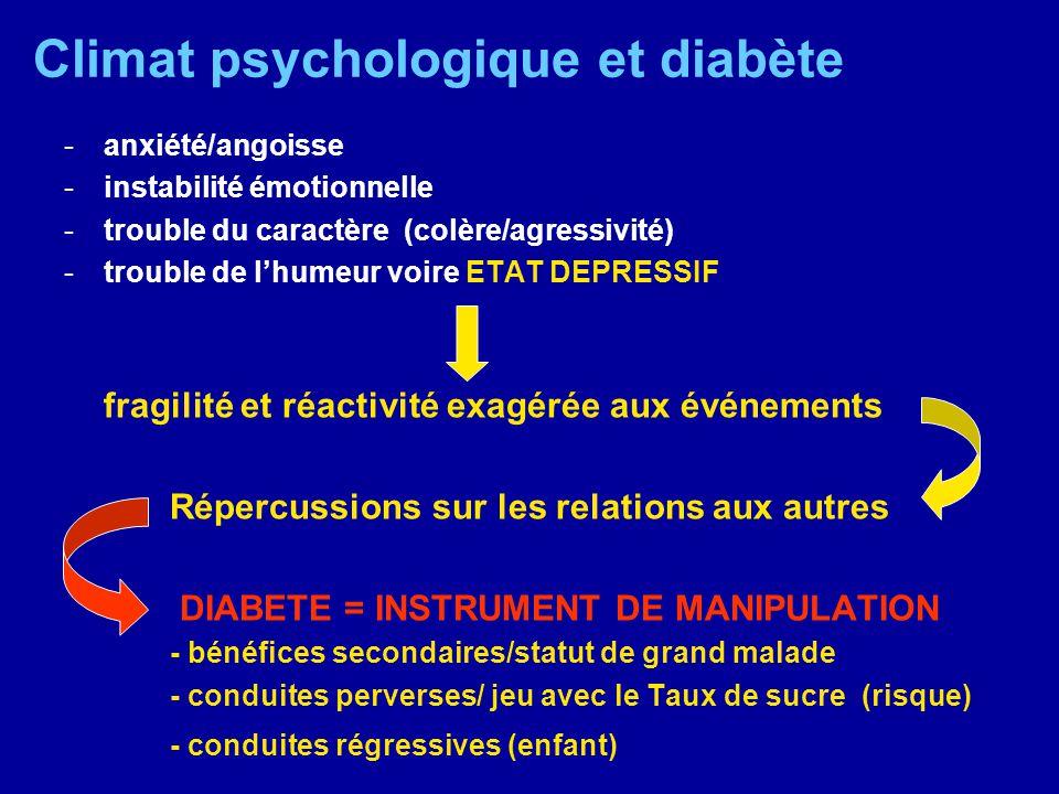 Climat psychologique et diabète