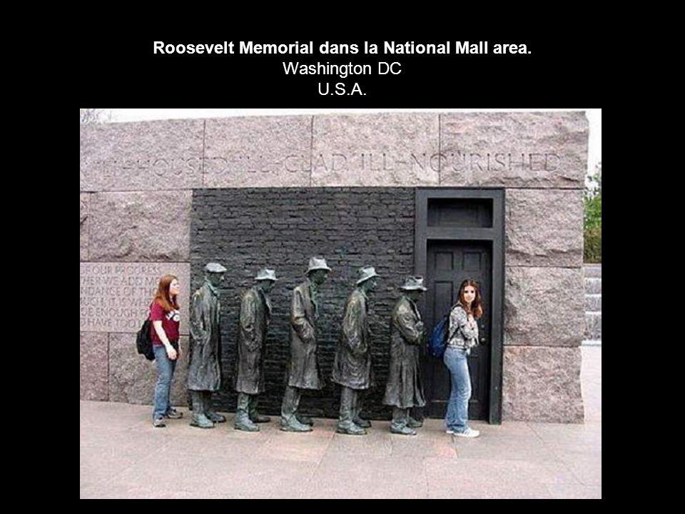 Roosevelt Memorial dans la National Mall area. Washington DC U.S.A.