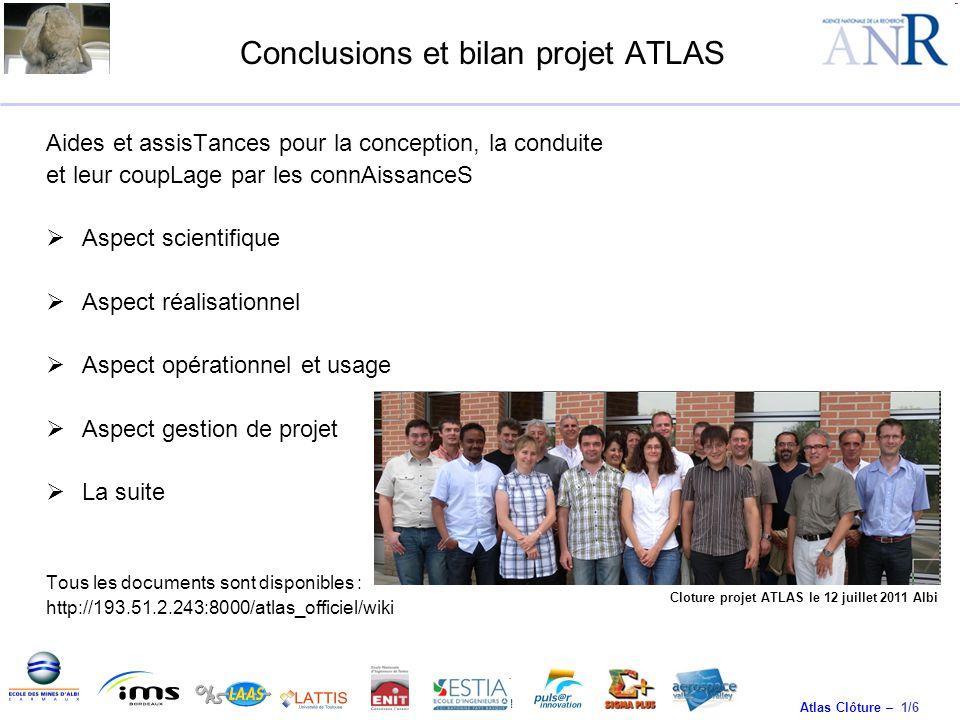 Conclusions et bilan projet ATLAS