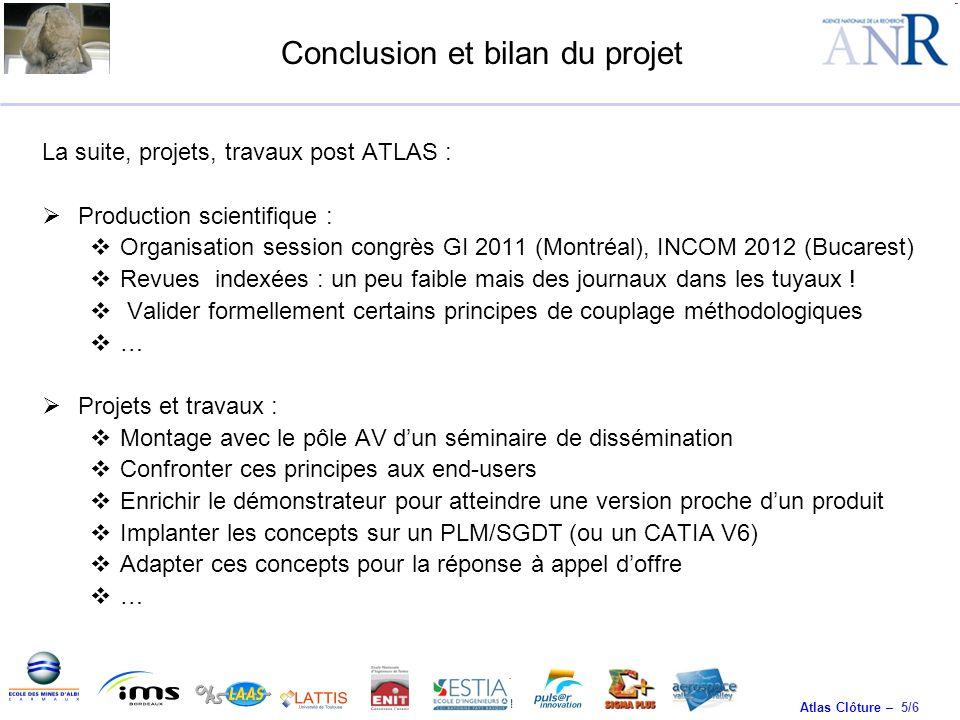 Conclusion et bilan du projet