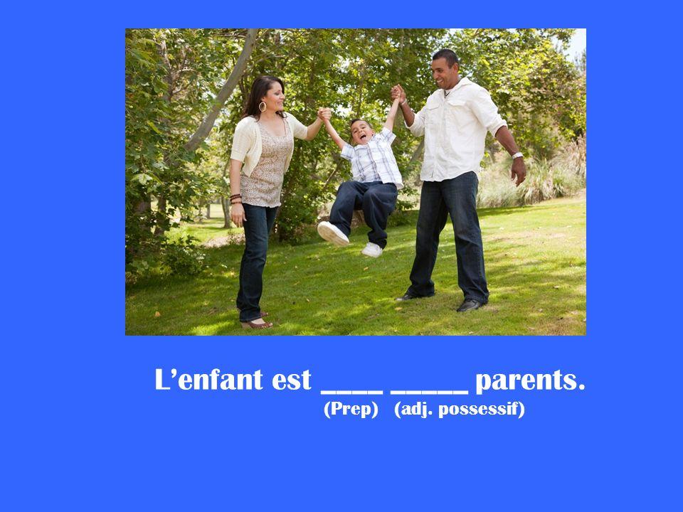 L'enfant est ____ _____ parents.