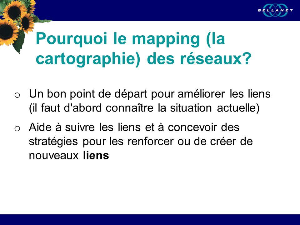 Pourquoi le mapping (la cartographie) des réseaux