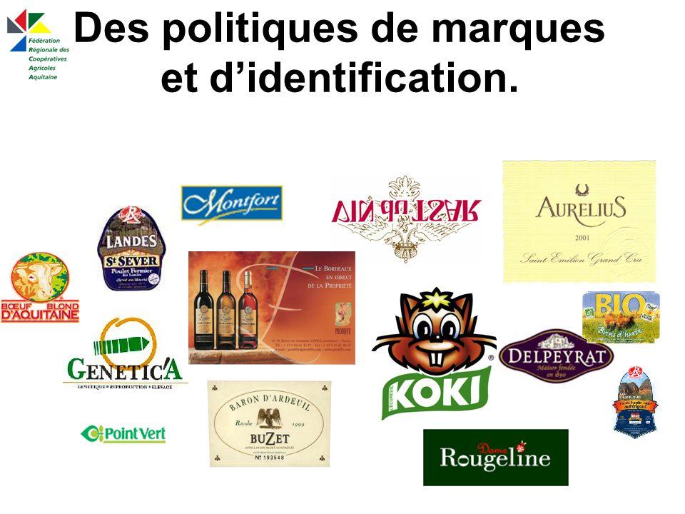 Des politiques de marques et d'identification.