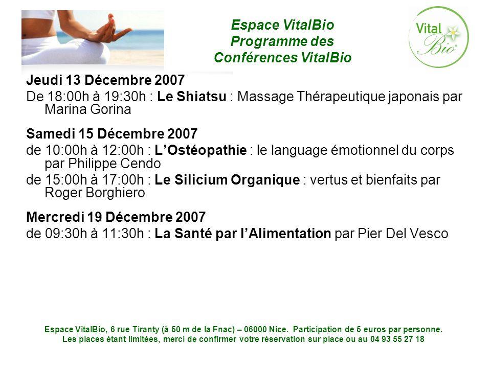 Jeudi 13 Décembre 2007 De 18:00h à 19:30h : Le Shiatsu : Massage Thérapeutique japonais par Marina Gorina.