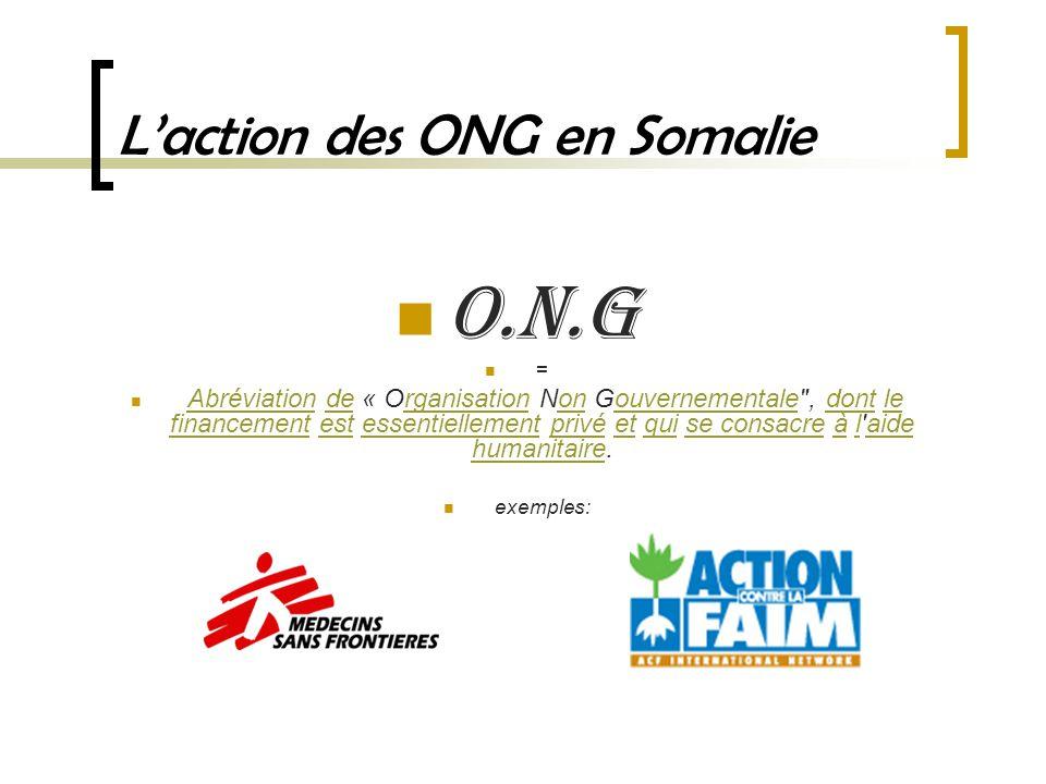 L'action des ONG en Somalie