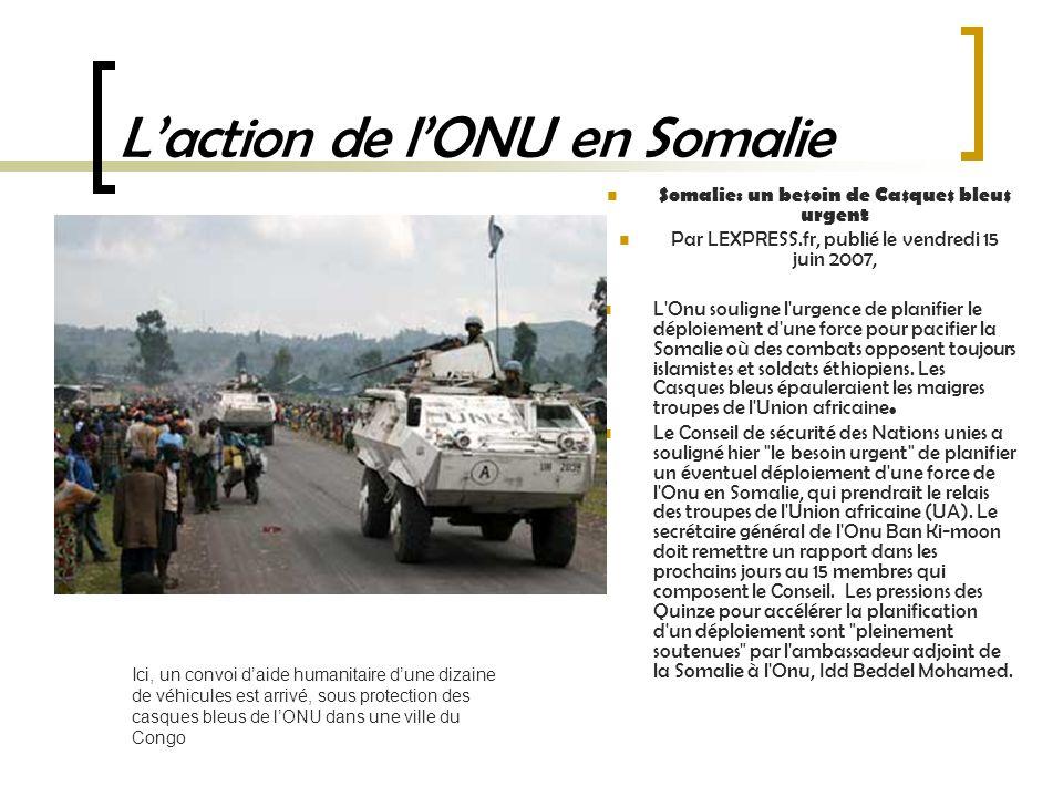 L'action de l'ONU en Somalie