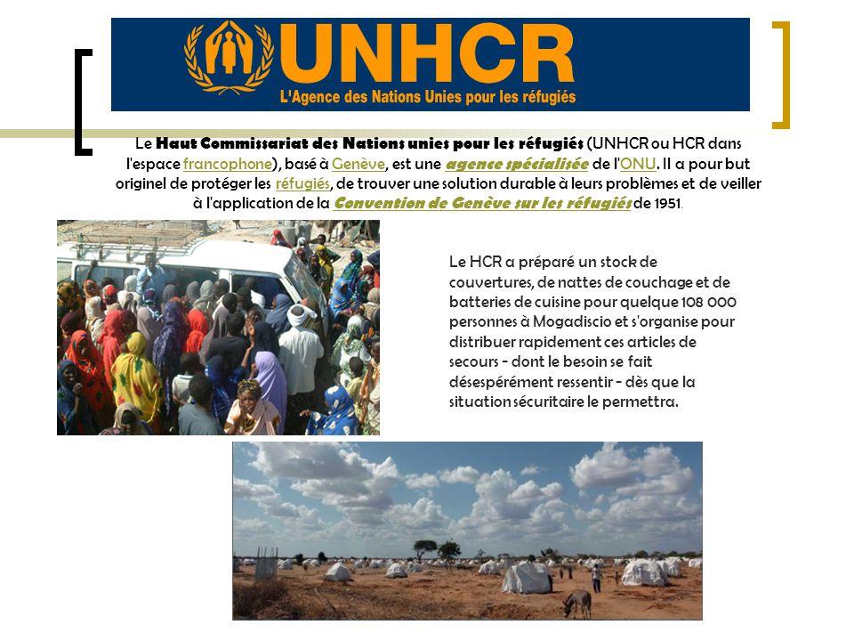 Le Haut Commissariat des Nations unies pour les réfugiés (UNHCR ou HCR dans l espace francophone), basé à Genève, est une agence spécialisée de l ONU. Il a pour but originel de protéger les réfugiés, de trouver une solution durable à leurs problèmes et de veiller à l application de la Convention de Genève sur les réfugiés de 1951.