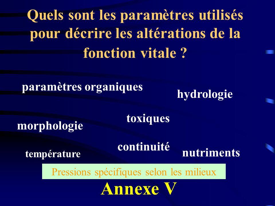 paramètres organiques
