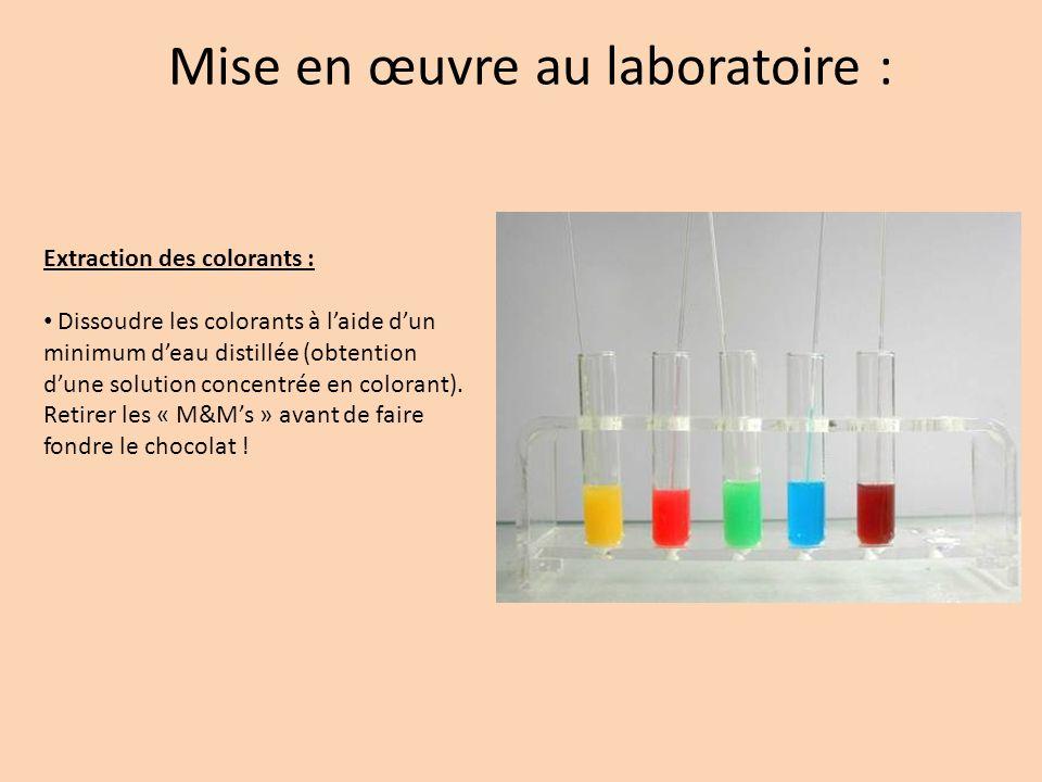 Mise en œuvre au laboratoire :
