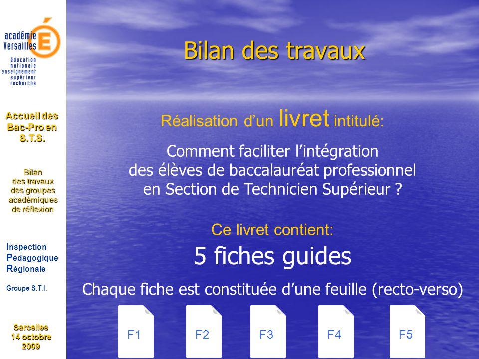 Accueil des Bac-Pro en S.T.S.