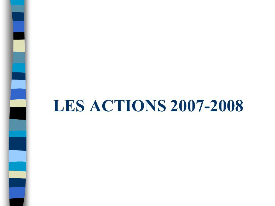 LES ACTIONS 2007-2008