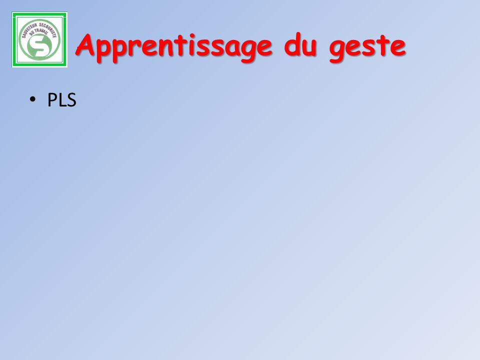 Apprentissage du geste