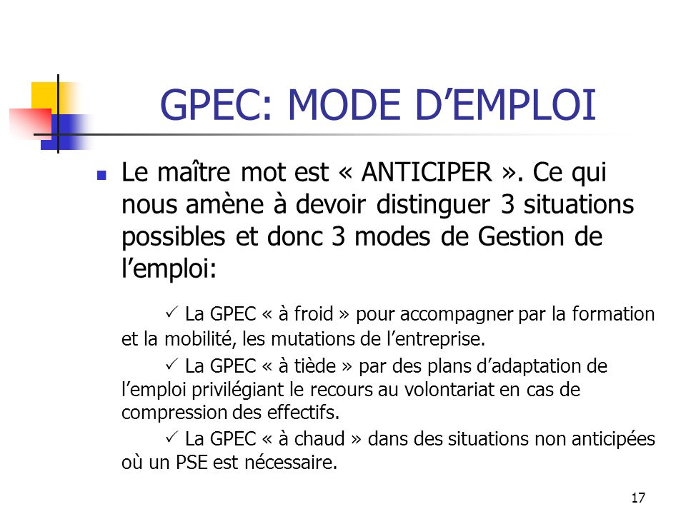 GPEC: MODE D'EMPLOI