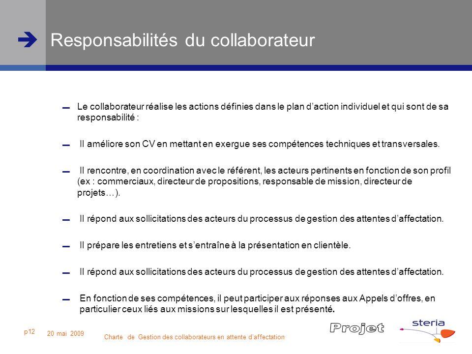 Responsabilités du collaborateur