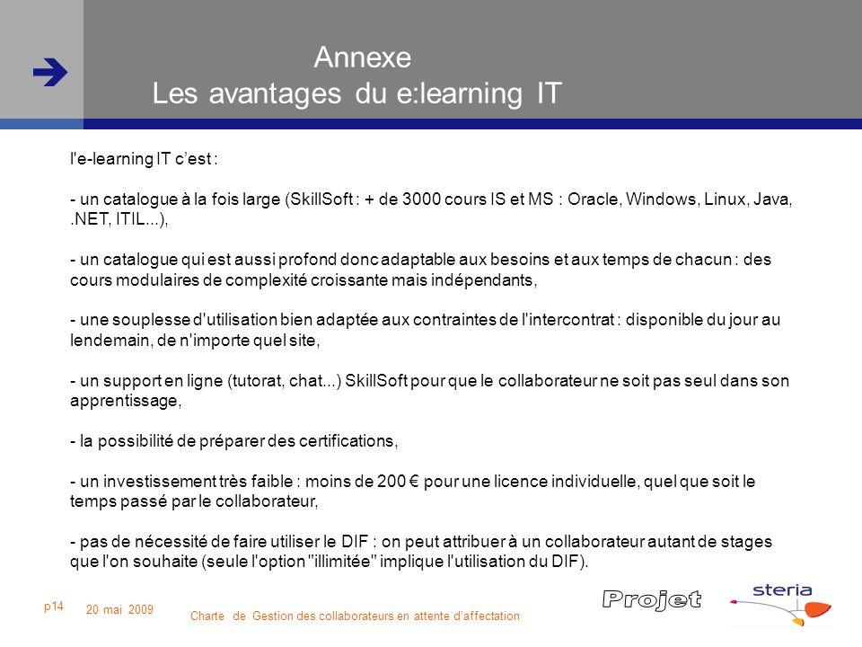 Annexe Les avantages du e:learning IT