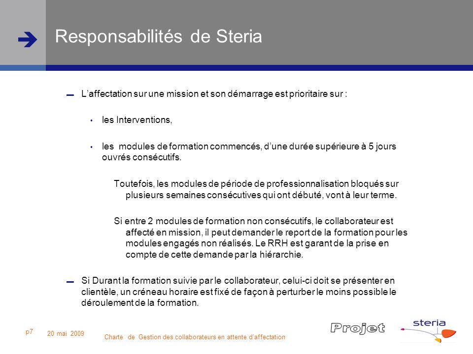 Responsabilités de Steria