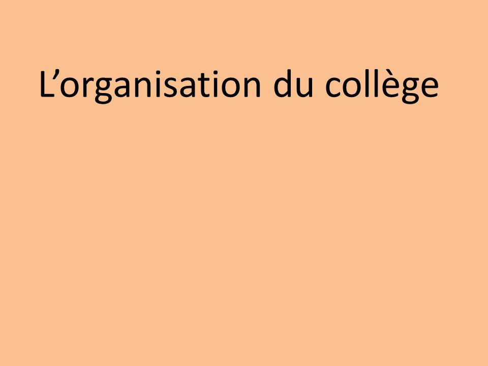 L'organisation du collège