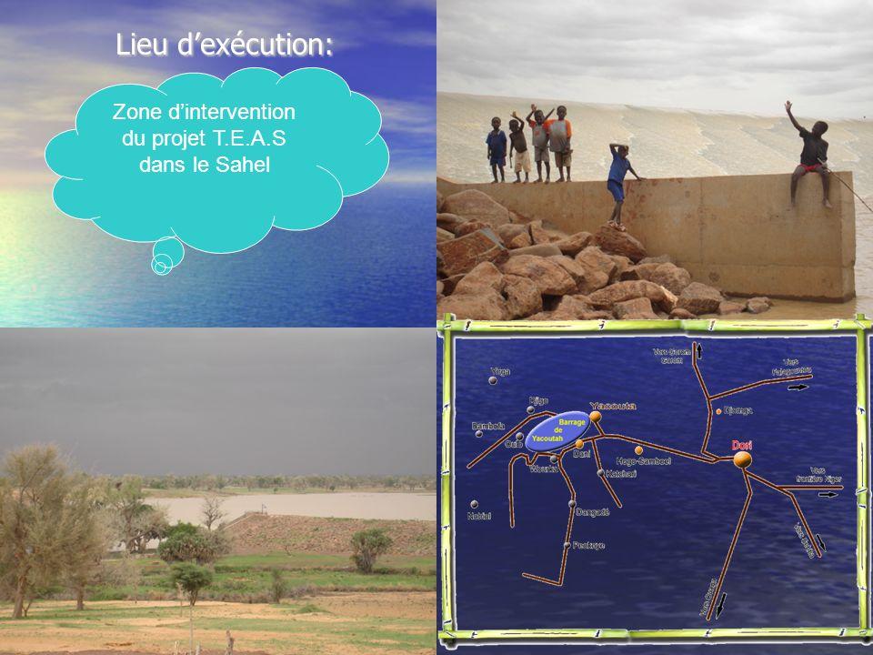 Zone d'intervention du projet T.E.A.S dans le Sahel