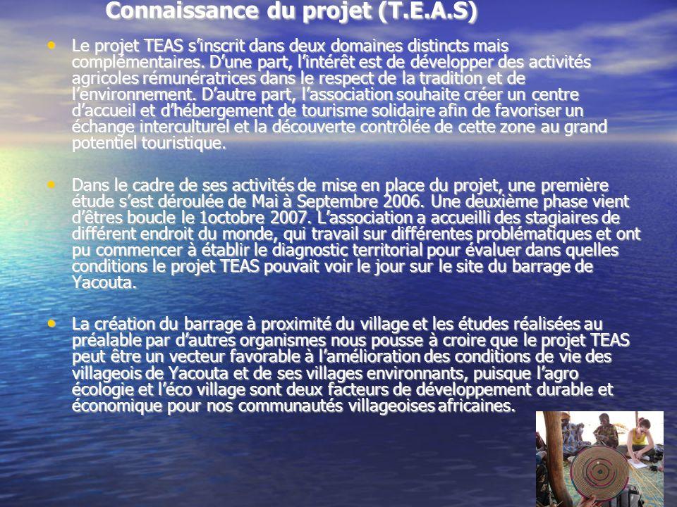 Connaissance du projet (T.E.A.S)
