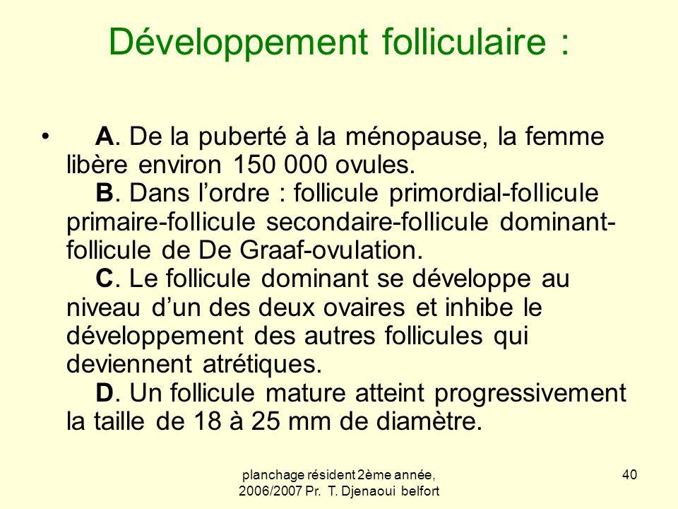 Développement folliculaire :