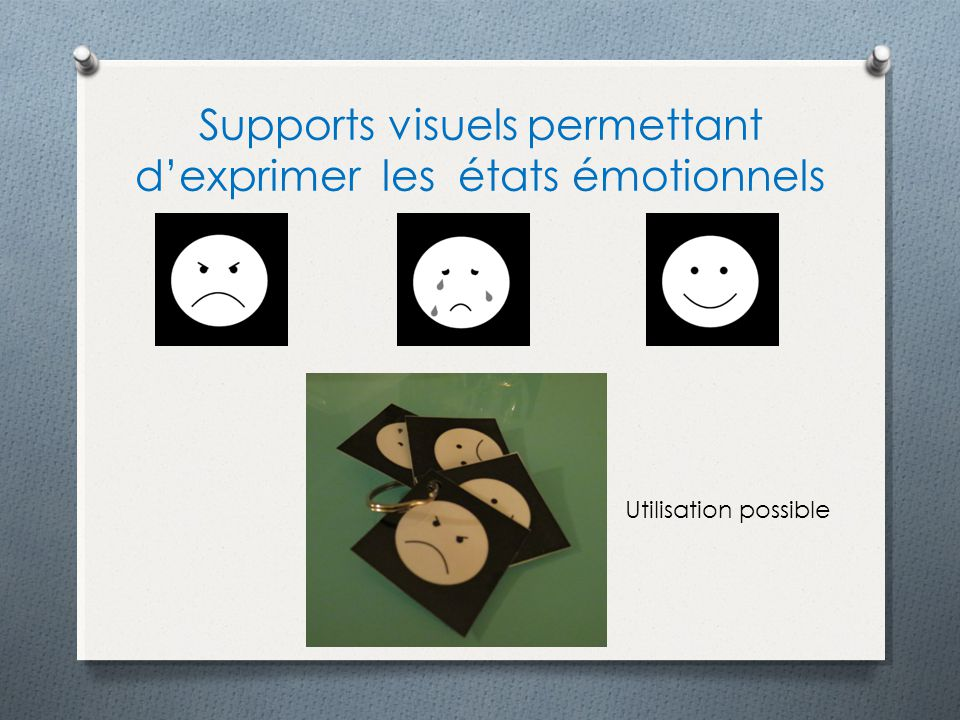Supports visuels permettant d'exprimer les états émotionnels