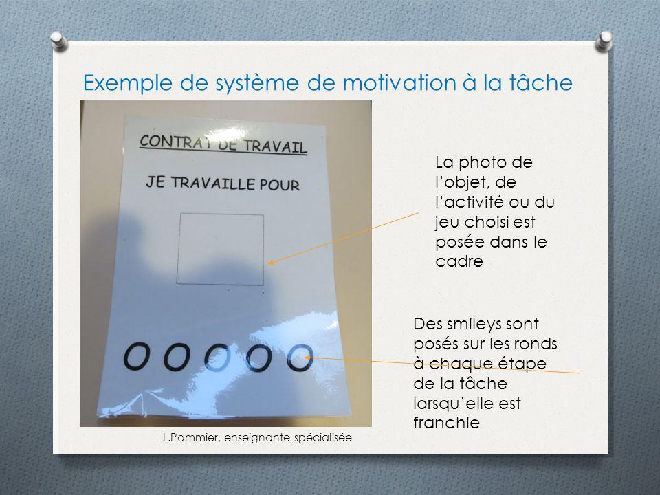 Exemple de système de motivation à la tâche