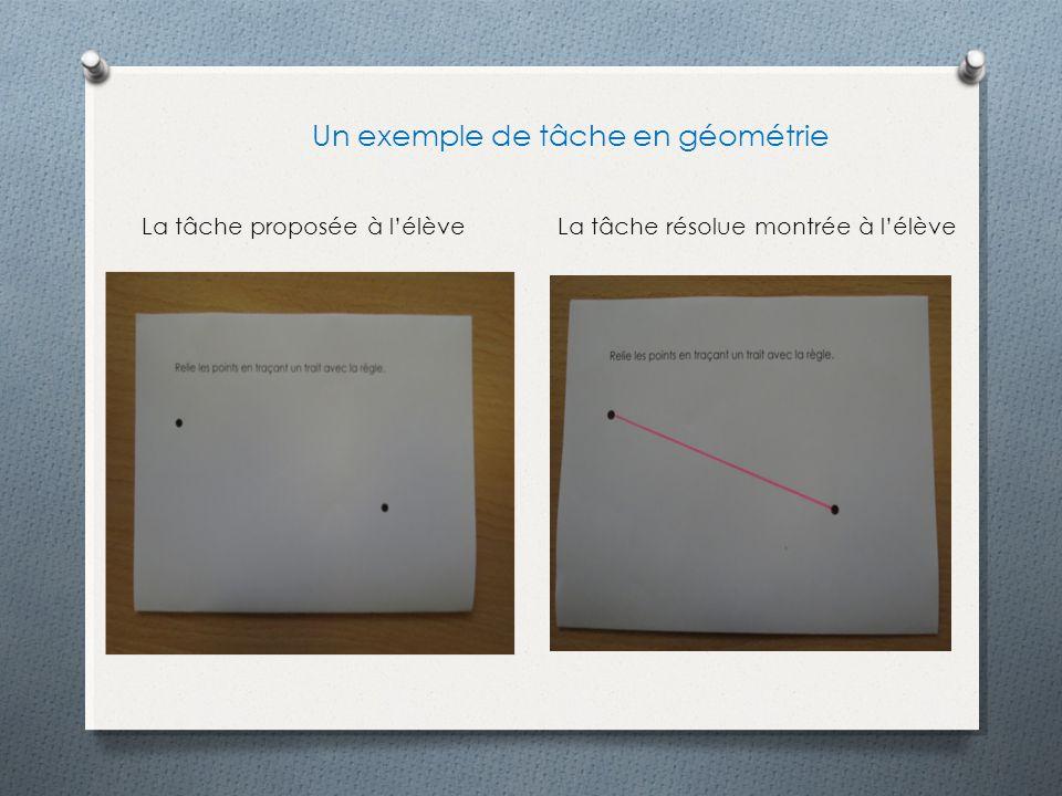 Un exemple de tâche en géométrie