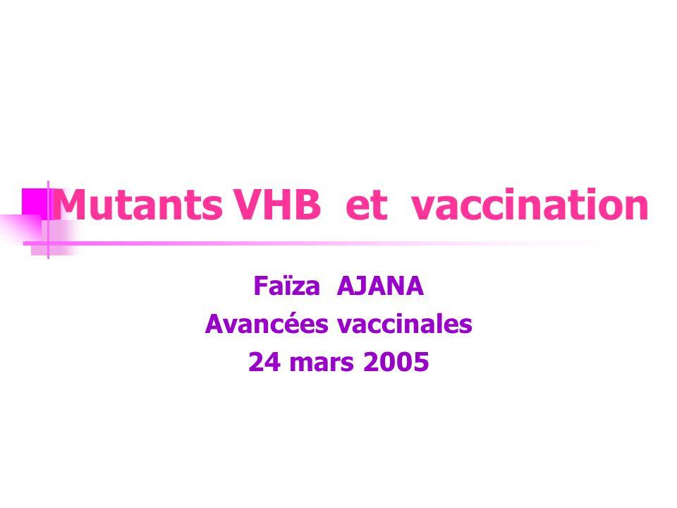 Mutants VHB et vaccination