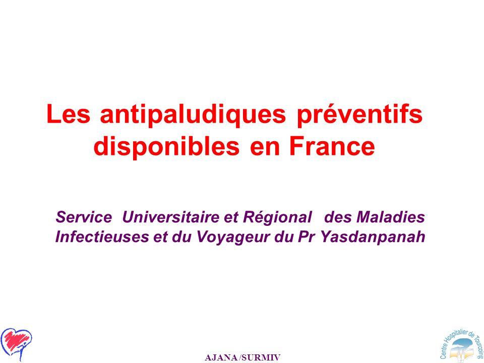 Les antipaludiques préventifs disponibles en France