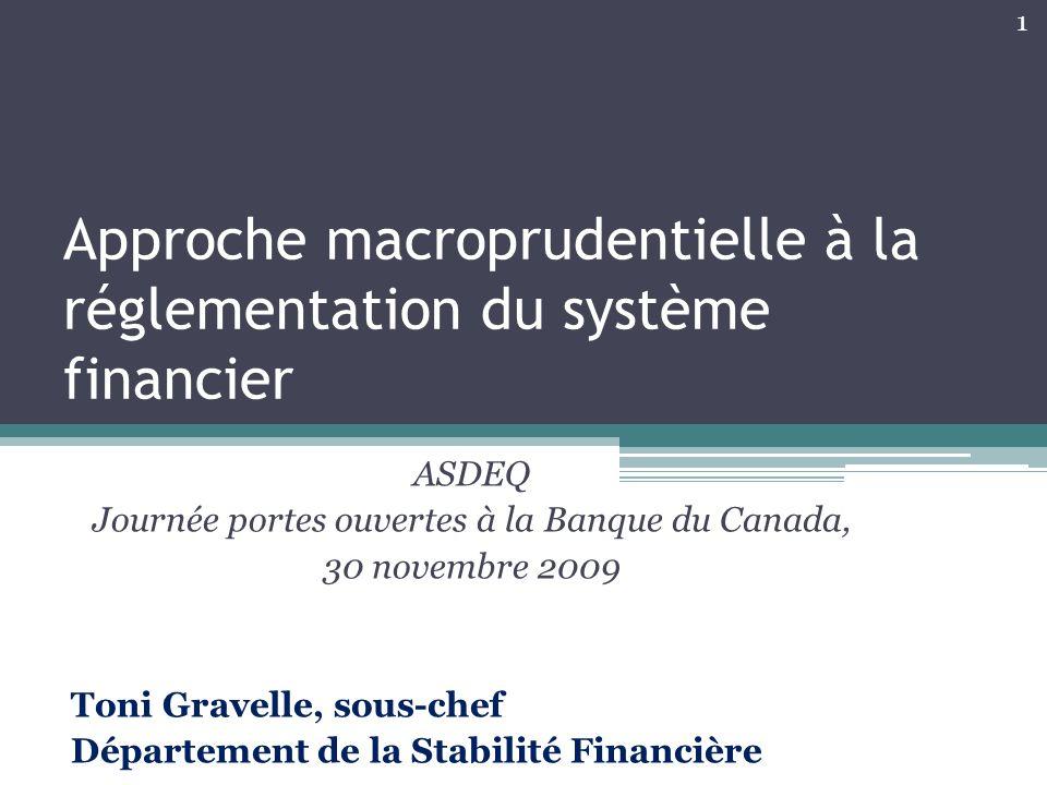 Approche macroprudentielle à la réglementation du système financier