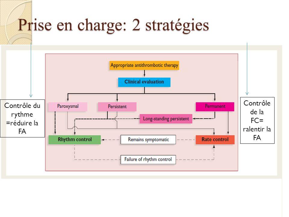 Prise en charge: 2 stratégies