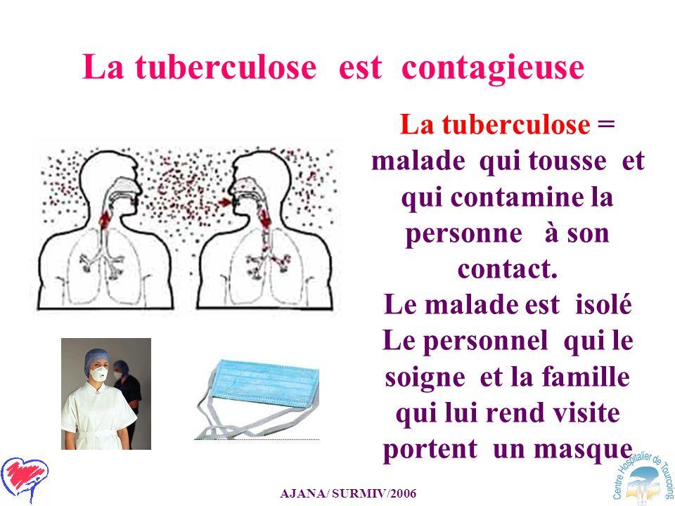 La tuberculose est contagieuse