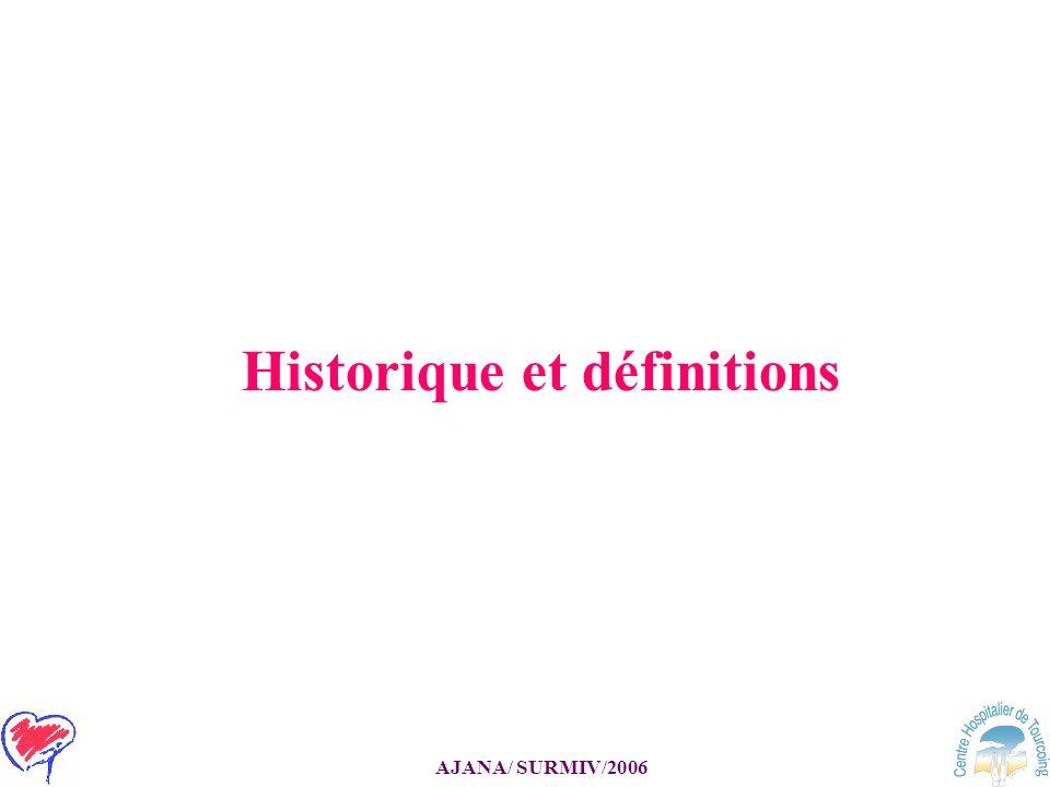 Historique et définitions