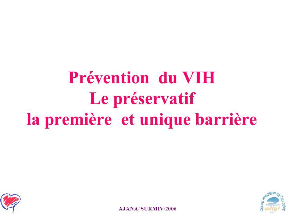 Prévention du VIH Le préservatif la première et unique barrière