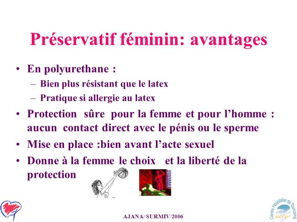 Préservatif féminin: avantages