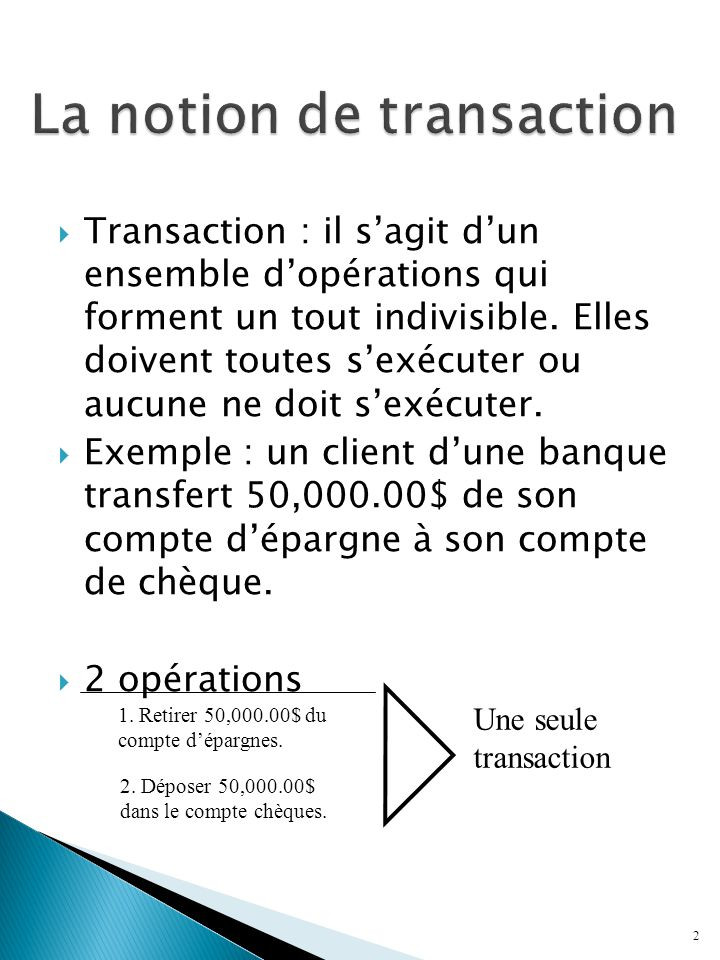 La notion de transaction