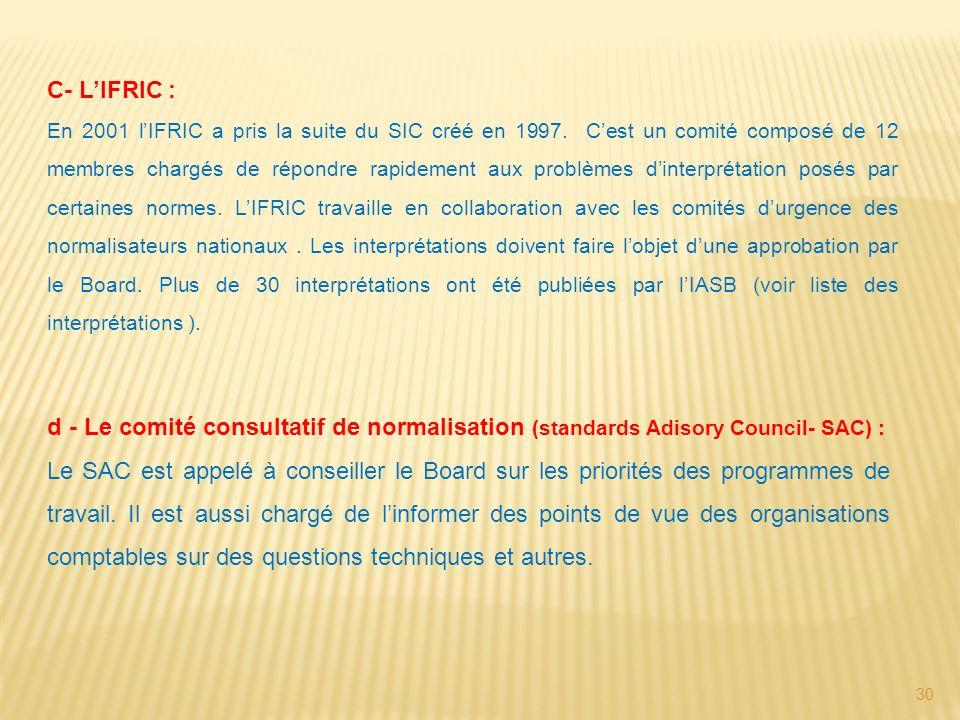 C- L'IFRIC :