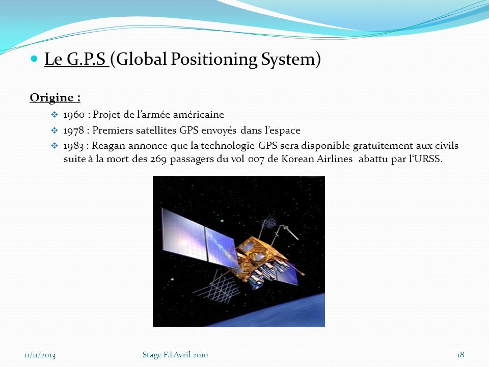 Le G.P.S (Global Positioning System)