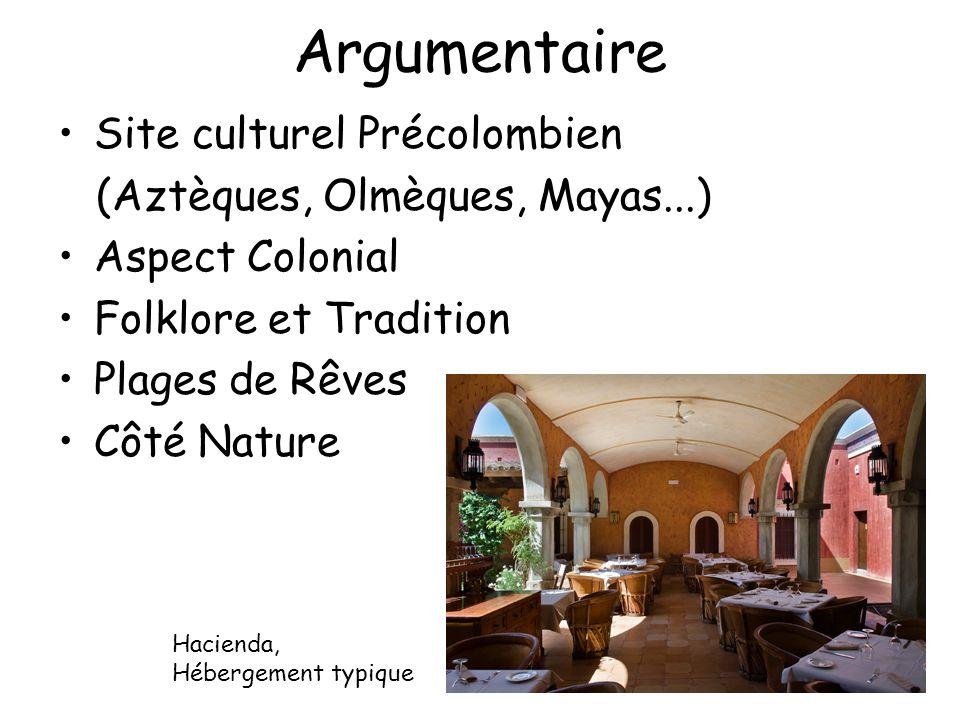 Argumentaire Site culturel Précolombien (Aztèques, Olmèques, Mayas...)