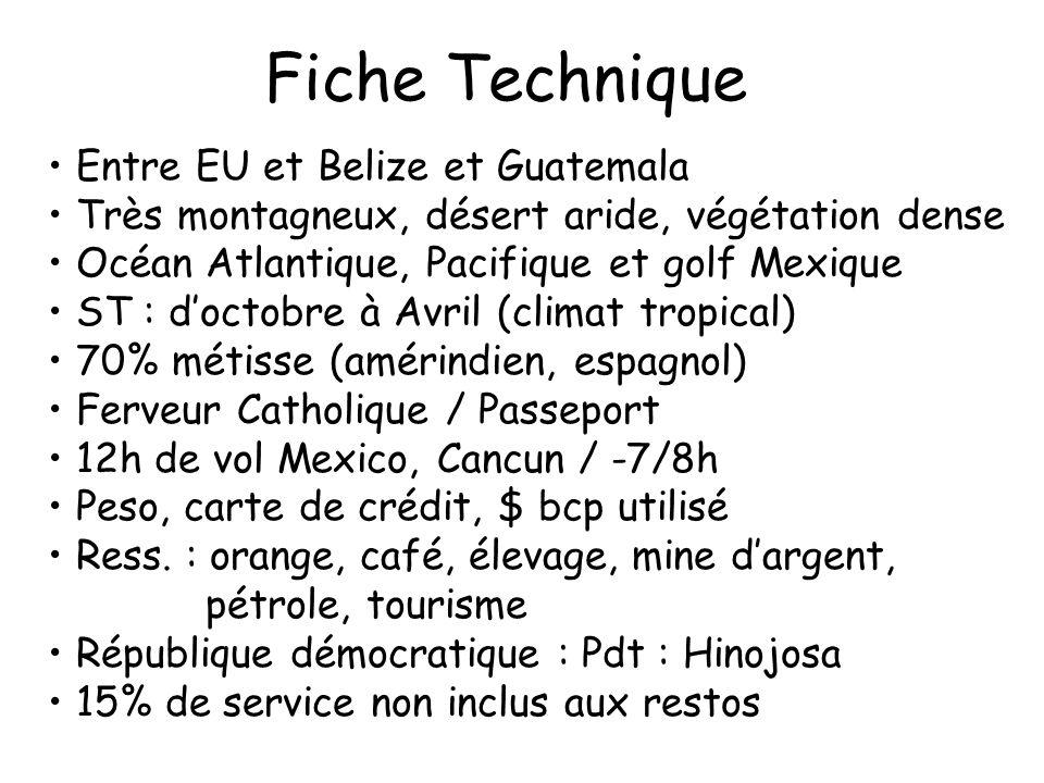 Fiche Technique Entre EU et Belize et Guatemala