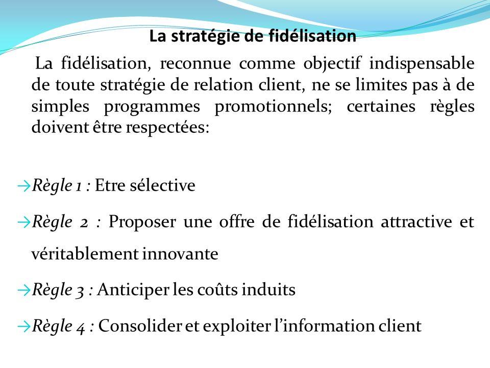 La stratégie de fidélisation