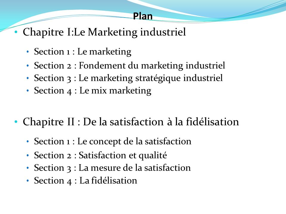 Chapitre I:Le Marketing industriel