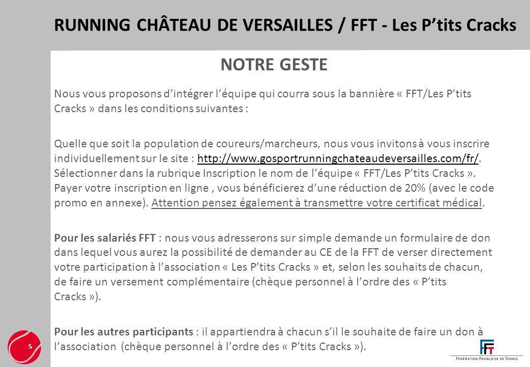 RUNNING CHÂTEAU DE VERSAILLES / FFT - Les P'tits Cracks