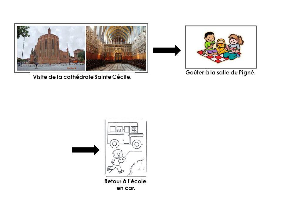 Visite de la cathédrale Sainte Cécile. Goûter à la salle du Pigné.