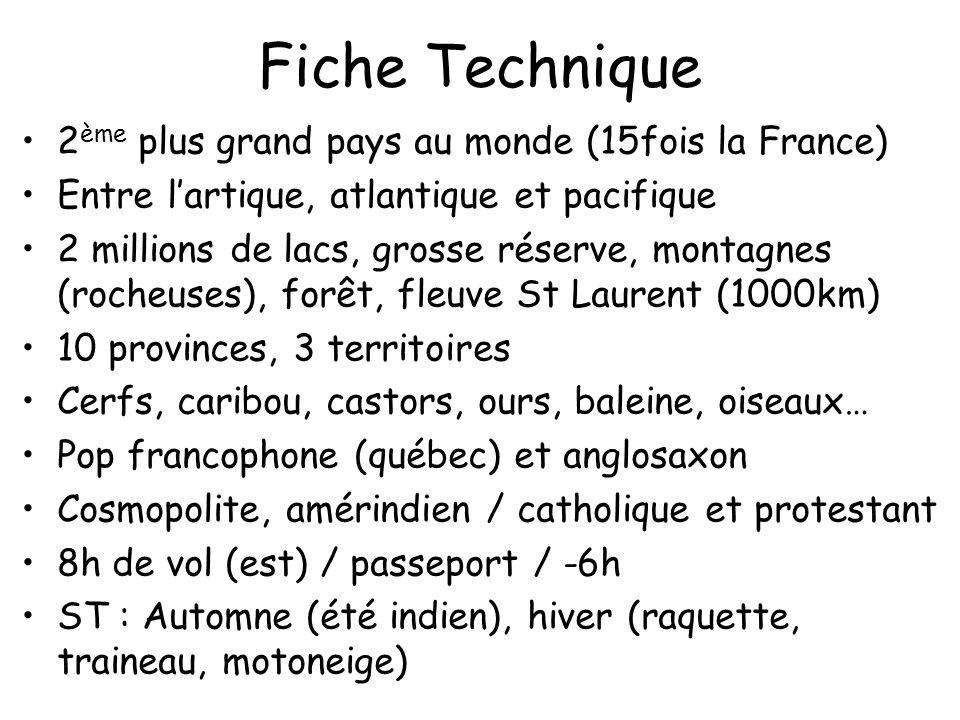 Fiche Technique 2ème plus grand pays au monde (15fois la France)
