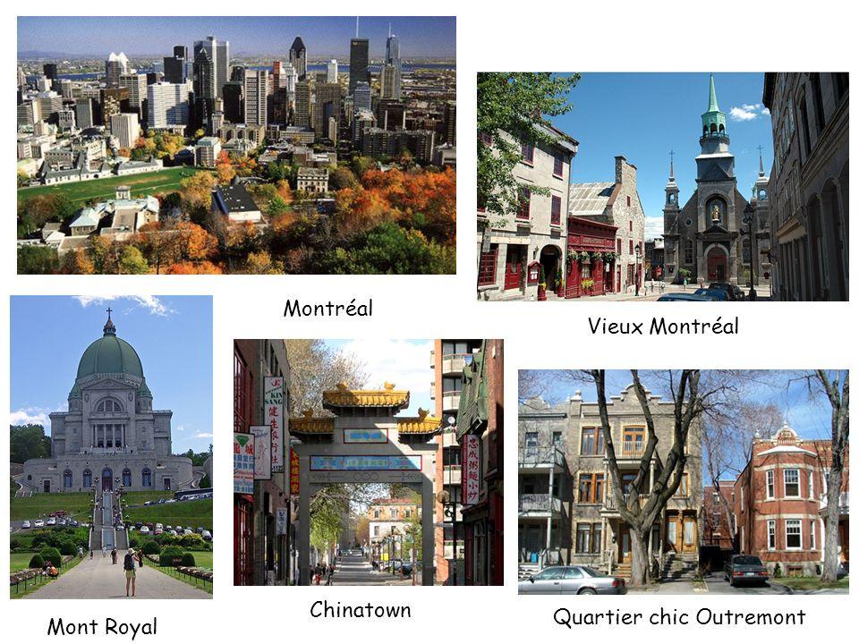 Montréal Vieux Montréal Chinatown Quartier chic Outremont Mont Royal
