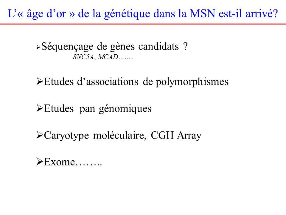 L'« âge d'or » de la génétique dans la MSN est-il arrivé