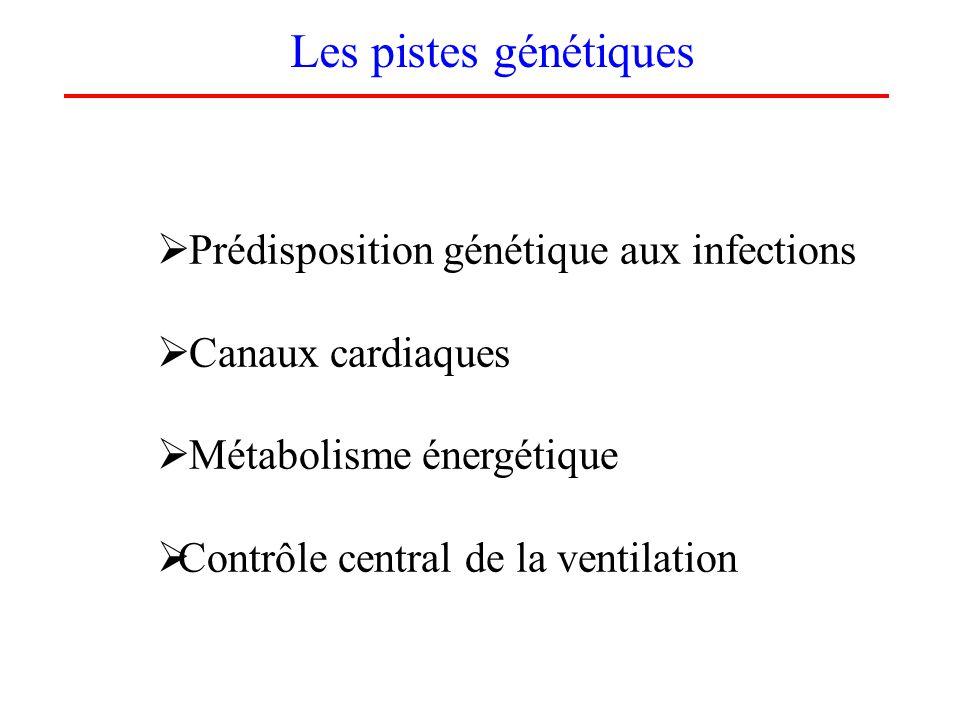 Les pistes génétiques Prédisposition génétique aux infections