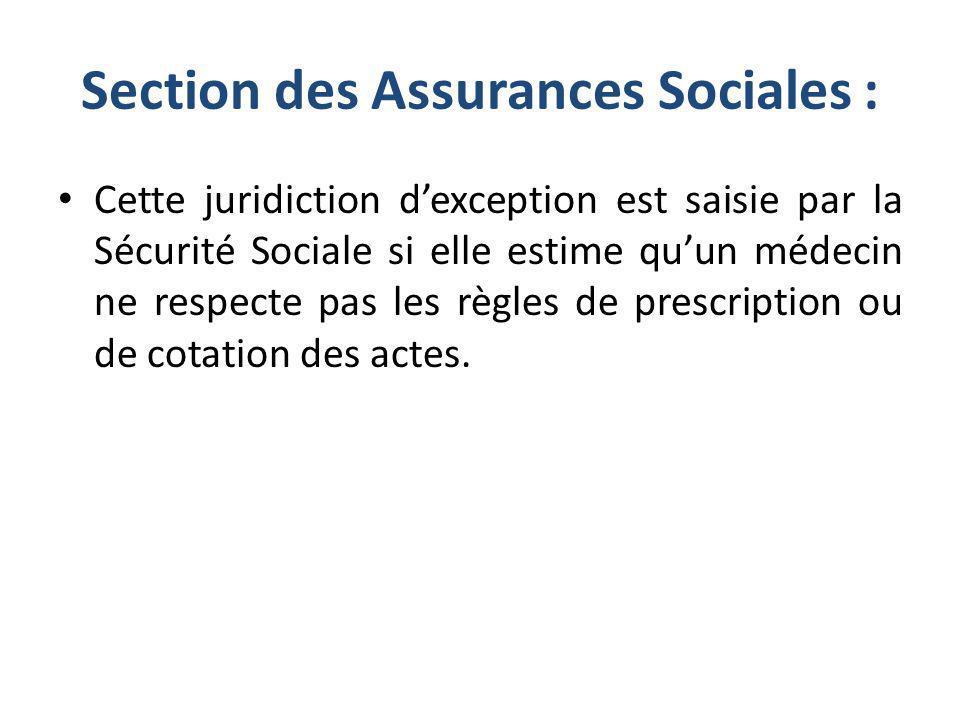 Section des Assurances Sociales :